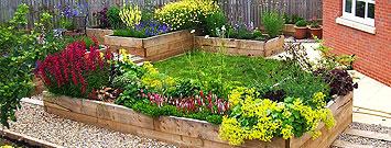 Gravelled Garden with Flowerbeds