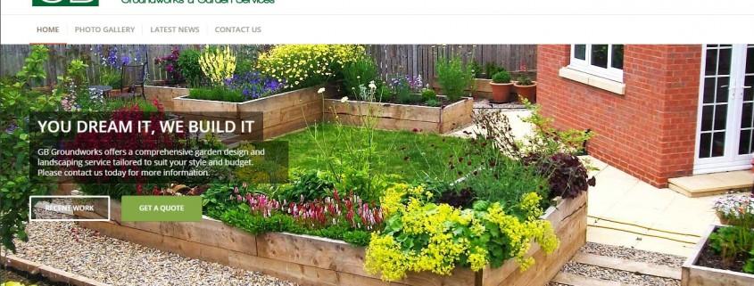 GB Groundworks Website Screenshot