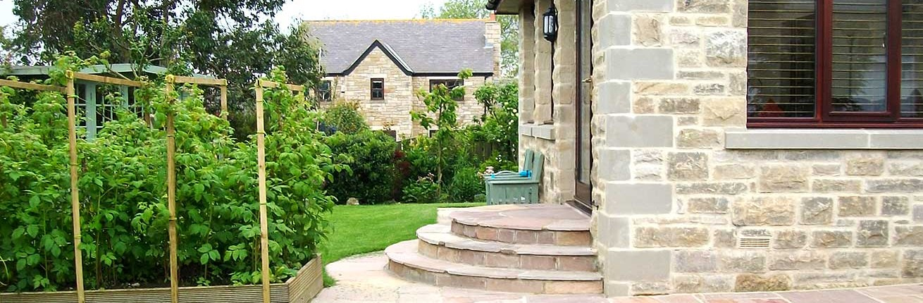 Steps Leading to Landscaped Garden